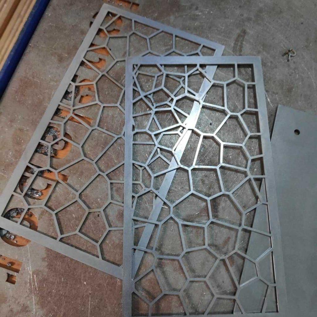 Wabenmuster aus Stahlblech